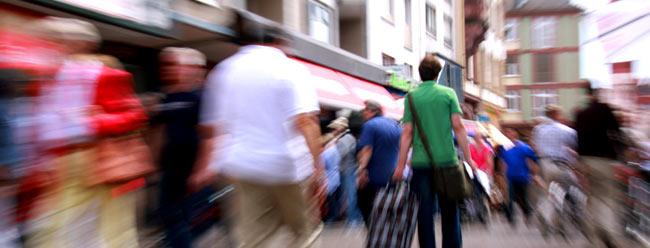 Straßenleben- die Ostergasse